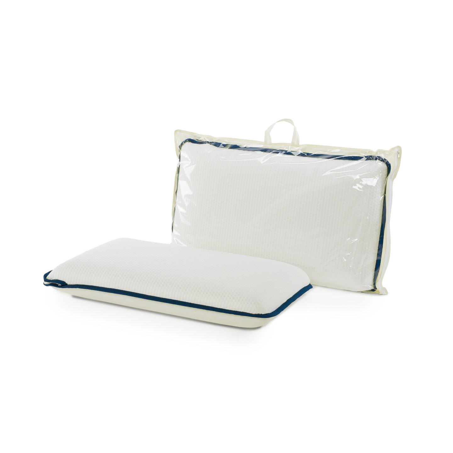 Cuscino in memory foam Pillow rivestimento e bordo